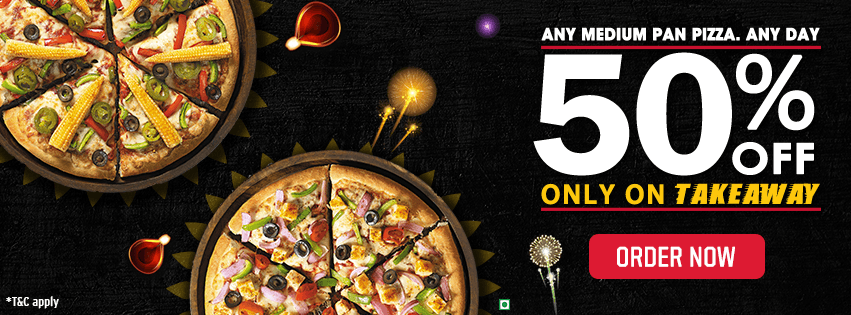 Buy 2 Pizzas At 50 Percent Off