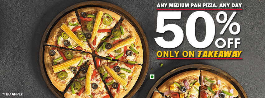 Navratri Special Get 2 Medium Pizzas At 50 Percent Off