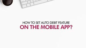 How to set auto debit feature  Axis Mobile App