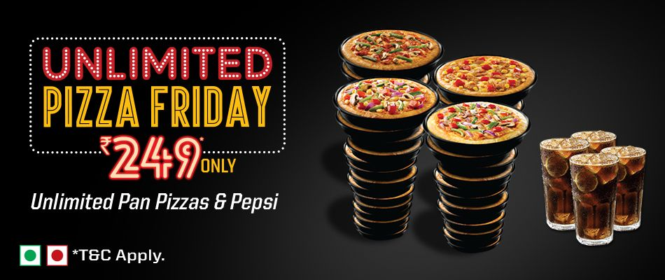 Unlimited Pizza Friday Rs 249 Only